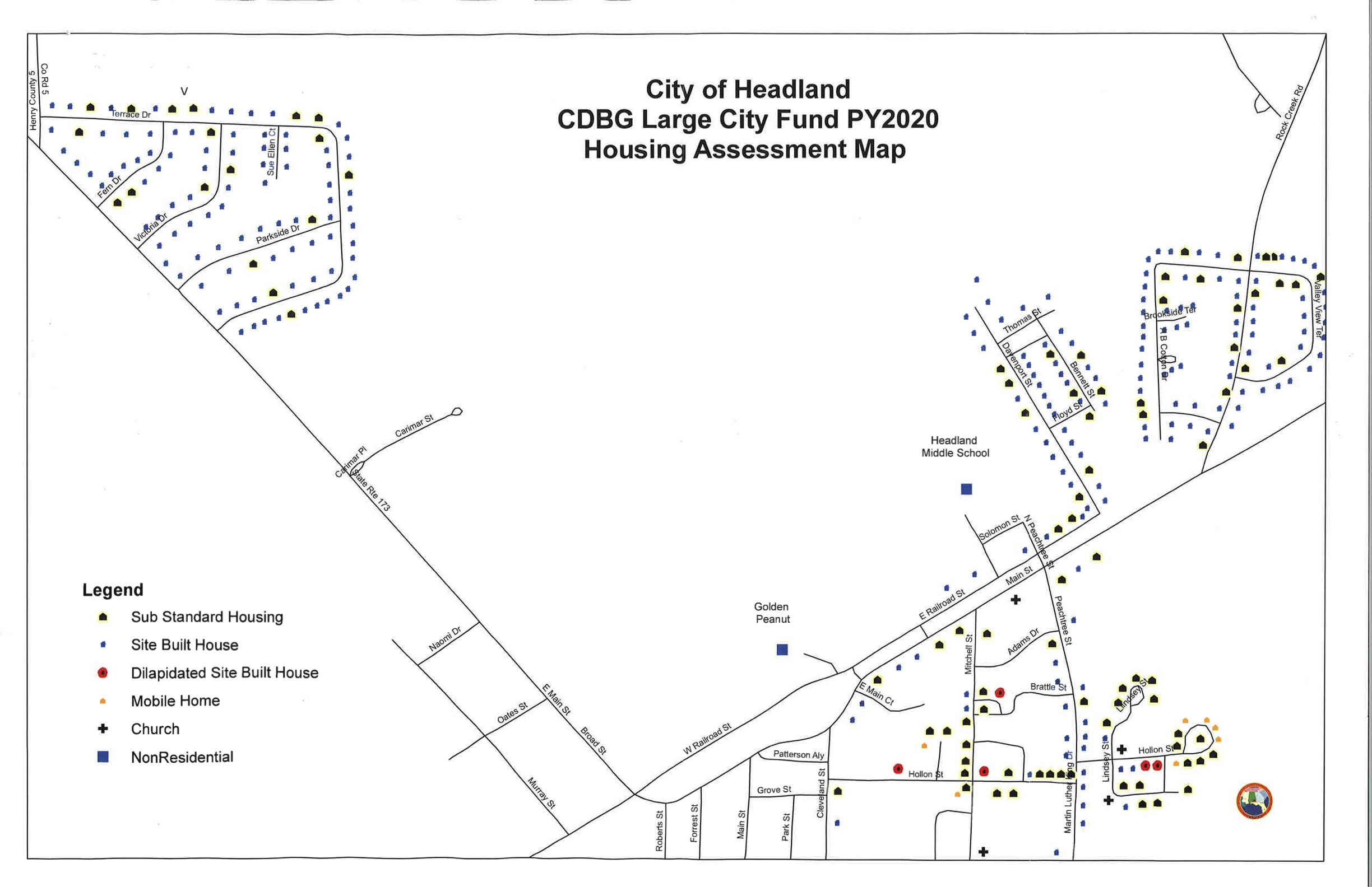 Housing Rehab Grant Map