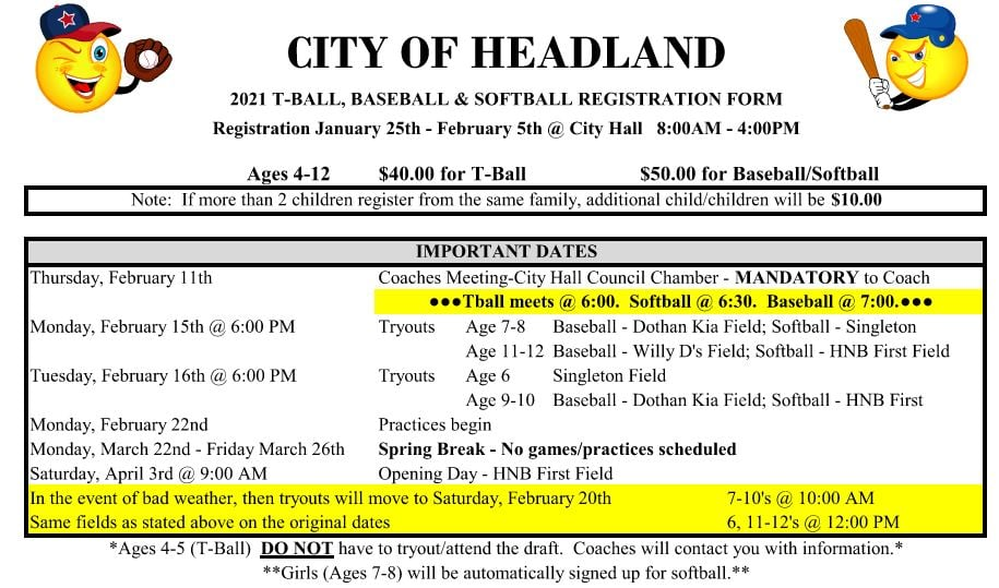 rec ball registration