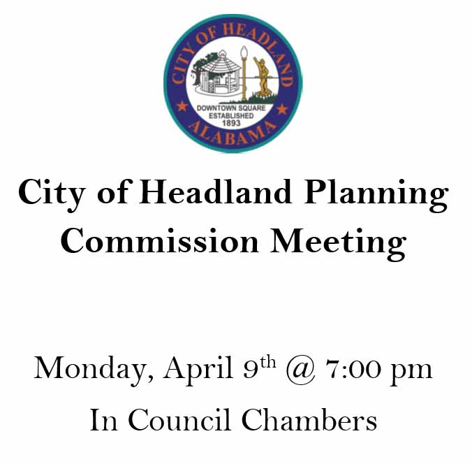2018 04 09 headland planning commission meeting
